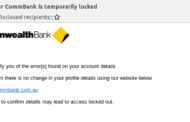 CommBank Brandjacked In Phishing Email Scam.